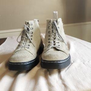 Dr. Martens vintage textured suede lace up boots